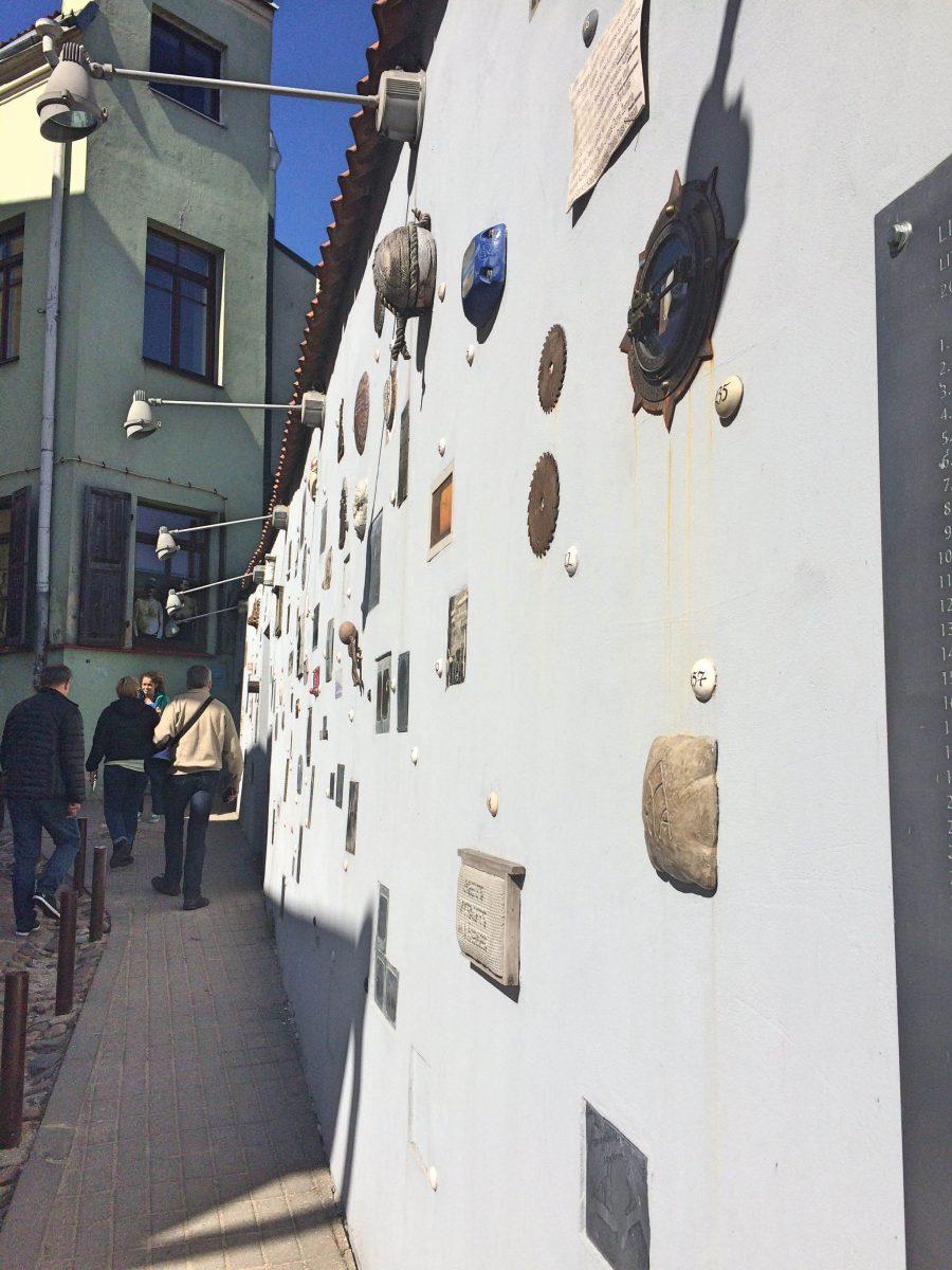 Literature street Vilnius